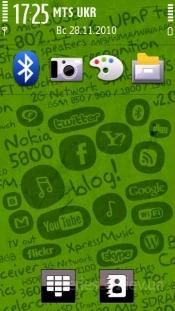 nokia 5800 green