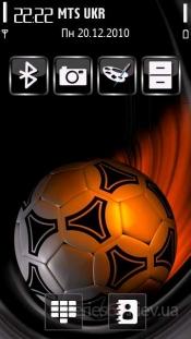 soccer ball red