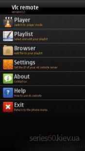 Vlc Remote Symbian s^3 v1.0
