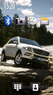 Mercedes-Benz ML on the rok