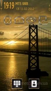 sunrise over the bay bridge