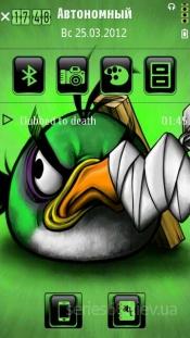 Green angry bird by Soumya