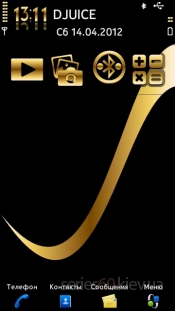 Gold and Black by Saby