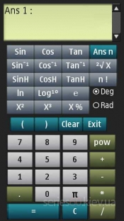Scientific Calculator v.1.00 by Frog